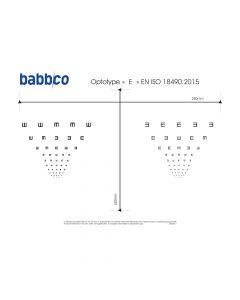 PLANCHE HD - OPTOTYPE E N&B - ISO DIS18490 MODELE2